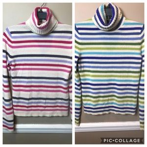 2 Express 100% Cashmere sz M Striped Sweaters